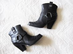 harley davidson sultry boots - photo by Harley Davidson Shoes, Harley Davidson Motorcycles, Orlando Harley, Biker Fashion, We Wear, How To Wear, Biker Style, Cool Boots, Choppers