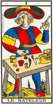 O Mago no Tarot de Marseille - Grimaud