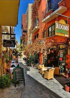Outdoor cafes - Chania island of Creta