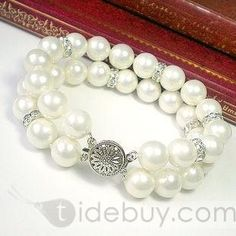 Glamorous Double Layers Pearl Bracelet