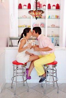 Ice Cream Parlor Engagement
