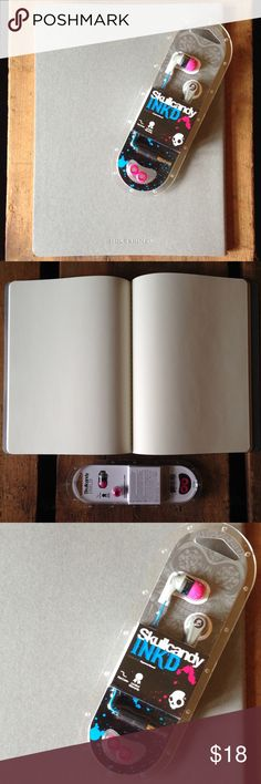 Artsy Summer Bundle Artsy Summer Bundle - 1 full size Moleskine notebook with blank pages for notes, doodles, sketches, etc. 1 set of Skullcandy INK'D ear buds headphones! Perfect for the artsy, music lover! Both items are brand new and in flawless condition! #moleskine #notebook #skullcandy #earbuds #headphones #bundle Urban Outfitters Other
