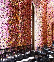 christian dior flower walls - Google Search