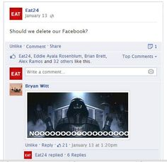 Sorryz. A Breakup Letter To Facebook from EAT24. Hilarious!