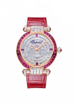Chopard Watch IMPERIALE 40 mm Watch 18k rose gold, rubies and diamonds