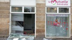 Nantes : encore et toujours de la casse lors de la manifestation contre la loi du travail - Photo : Un exemple des dégâts perpétrés cet après-midi - Publié le 12 mai 2016