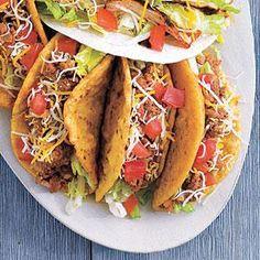 Crunchy Beef Tacos Recipe | MyRecipes.com