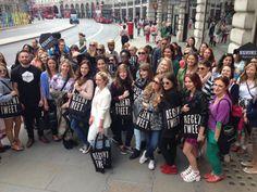 Lovely bloggers ready for #RegentTweet! #RegentStreet
