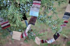 Felted Sweater Garland