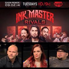 Ink Master, Tattoo Shows, Season Premiere, Tattoo Machine, Family Events, Squad, Entertaining, Artists, Concert