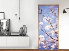 Designfolie Apple Blossoms für deine Tür Groß außen (86 x 198,5 cm)