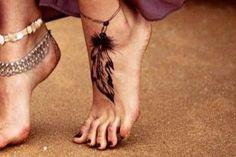 tatouage a la cheville femme