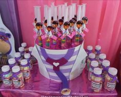 1st Birthday Favors, 1st Birthday Girls, 1st Birthday Parties, Doctor Mcstuffins, Doc Mcstuffins Birthday Party, Ideas Para Fiestas, Holidays And Events, First Birthdays, Celebrations
