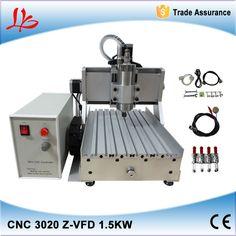 EU tax free 3 axis CNC Router LY CNC 3020Z-VFD1.5KW Engraving Machine ,cnc cutting machine,also have EU warehouse #Affiliate