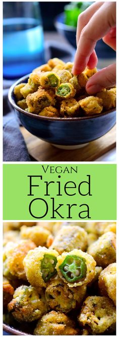 This vegan fried okra is simple to make and perfect for when you're craving something crispy, fatty and salty. I ain't gonna lie, this is no health food but just cuz we're vegan doesn't mean we can't enjoy some southern fried comfort food from time to time, right?