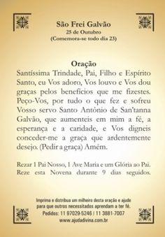 São Frei Galvão orações em papel santinhos para promessa - Santinhos Ajuda Divina #oraçãofreigalvão