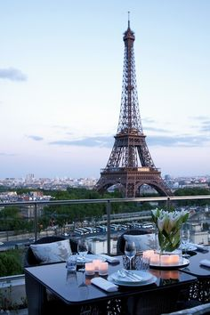 Eiffel Tower view from the Shangri-La