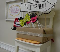 18th Party Ideas, Diy Photo Booth Props, Display Boxes, Knives, Cutting Board, Birthday Parties, Backdrops, Carnival, Sign