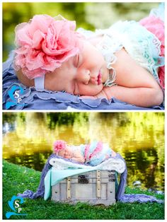 Silverstrand Photography Blog - Provo Newborn Photography - Outdoors - Pond - props