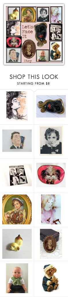 """Face It"" by muskrosevintage ❤ liked on Polyvore featuring Royal Doulton and vintage"