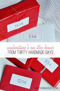 Valentines On the Hour Gift Ideas   Valentines Day Ideas for Him, see more at: https://diyprojects.com/valentines-day-ideas-for-him/