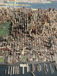 Manhattan Midtown from the air.