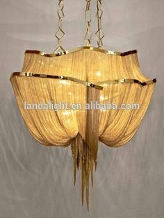 Contemporary Golden Chain Chandelier Lighting