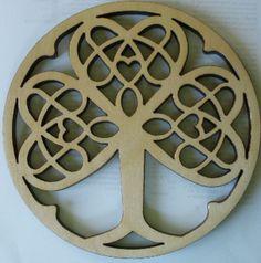 Hardwood Celtic Knot Trivet