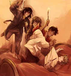 OH MY GOD!!!! The Beatles legendary pillow-fight, with the Marauders instead!!! Love it!!!
