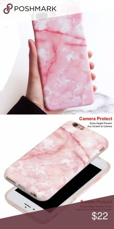 iPhone Baby Pink Marble Case Available for:  iPhone 6 iPhone 6s iPhone 6 Plus iPhone 6s Plus  iPhone 7 iPhone 7 Plus iPhone 8 iPhone 8 Plus iPhone X Accessories Phone Cases