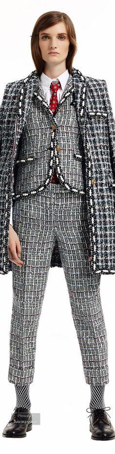 Thom Browne.Pre-Fall 2015. Plaid Fashion, Suit Fashion, Fashion Pants, World Of Fashion, Tartan, Internship Outfit, Winter Fashion 2015, Got The Look, Haute Couture Fashion