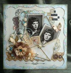 Envelope on Scrapbook Page! Scrapbooking Journal, Scrapbooking Vintage, Scrapbook Sketches, Scrapbook Page Layouts, Digital Scrapbooking, Wedding Scrapbook, Scrapbook Cards, Album Vintage, Vintage Cards