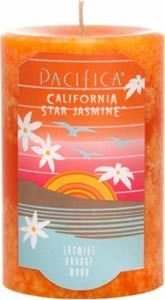 Fill any space with scent - beautifully! Hand-poured in vibrant and uniquely mottled colors, Pacifica Pillar Candles are made with paraffin wax, lead-free wicks and Pacifica's signature perfume blends