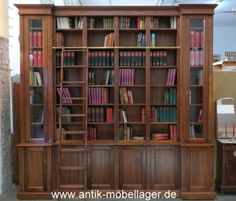Bücherregal wand antik  Antik-Möbellager - Regal Bücherregal Nussholz Antik Neuanfertigung ...