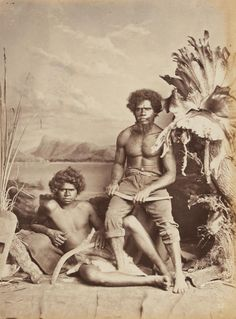 Two Aboriginal men holding boomerangs (c. Two Aboriginal men holding boomerangs (c. Aboriginal Man, Aboriginal Culture, Modern History, Local History, Australian Aboriginal History, I Love Being Black, Australian Aboriginals, Australian People, Haida Art