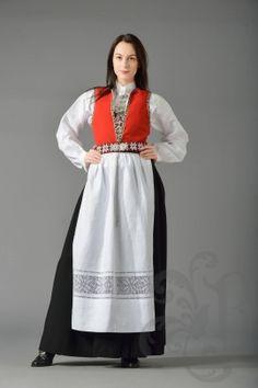 Sunnhordlandsbunad Norway, Tunic Tops, Costumes, Skirts, Folklore, Women, Ideas, Fashion, Kleding