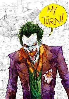 "elpiratafriki: "" Joker by Ario Anindito "" Comic Book Characters, Comic Character, Comic Books Art, Comic Art, Comic Villains, The Man Who Laughs, Joker Art, Joker Pics, Joker Joker"