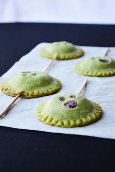 Matcha Pop Tarts with Blueberry and Cream Cheese Filling