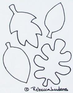 Free Patterns to Print | Rebecca's Fall Scrapbook Page Layout Idea - Free Leaf Pattern