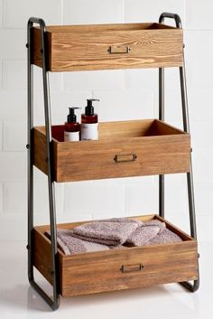 Pine 3 Tier Storage Caddy