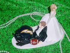 San Diego Charger Football funny Groom Fun Wedding Cake Topper NFL Sports Fan Lover
