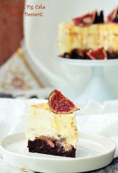 Fig Cake, Something Sweet, Caramel, Beautiful Cakes, Yummy Cakes, No Bake Cake, Cheesecake, Ice Cream, Sweets