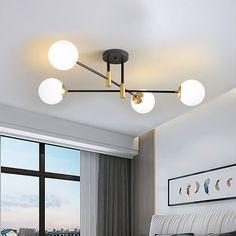 Kitchen Ceiling Lights, Glass Ceiling Lights, Semi Flush Ceiling Lights, Flush Mount Lighting, Modern Ceiling Lights, Bedroom Ceiling Lights, Living Room Lighting Ceiling, Ikea Lighting, Ceiling Light Design