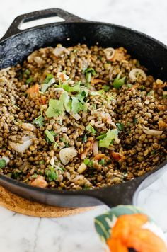 Recipe: Warm French Lentil Salad with Bacon & Herbs — Lunch Recipes from The Kitchn | The Kitchn
