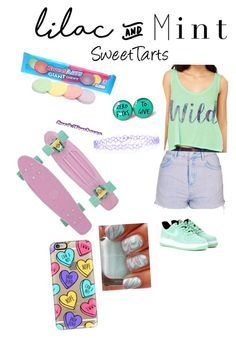 """Lilac and Mint SweetTart"" by crazycandy202 ❤ liked on Polyvore featuring Topshop, NIKE, Casetify, Cultura, Monsoon and lilacandmint"