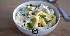 Een heerlijk zomers pastagerecht dat zo op tafel staat! Deze pasta is gevuld met Parmezaanse kaas.