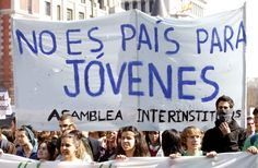 Manifestación de estudiantes en Madrid en defensa de la educación pública.