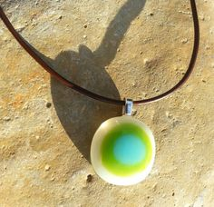 Fused Glass and Silver Plated 'Retro' by SilverbirdDesignsUK