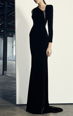 Felix Velvet One Sleeve Gown by ALEX PERRY for Preorder on Moda Operandi