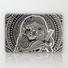 Polynesian Sloth Laptop & iPad Skin